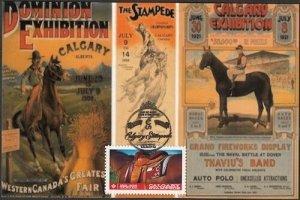 CANADA #2547 CALGARY STAMPEDE MAXIMUM CARD #3