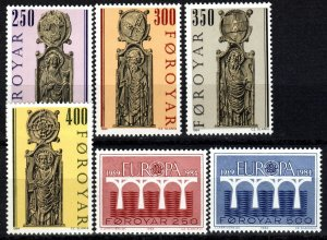 Faroe Islands #102-7 MNH  CV $5.70 (P643)