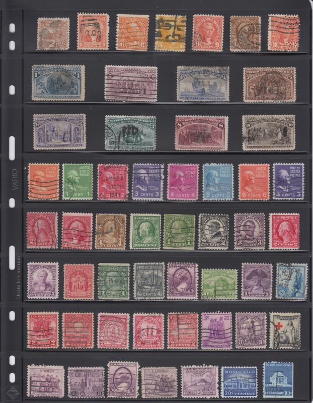 Stamp Collection Used Some Mint Hinged / Columbian Commemoratives / Pony Express