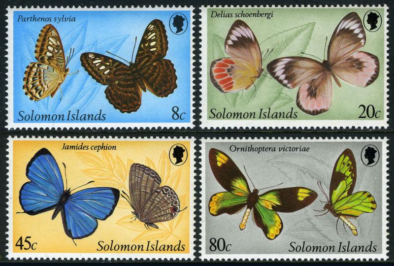 Solomon Islands 431-434, MNH. Butterflies, 1980