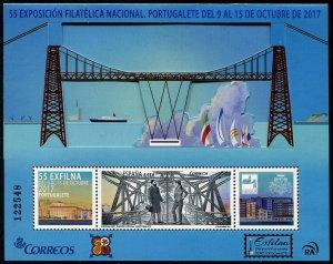 HERRICKSTAMP NEW ISSUES SPAIN Sc.# 4227 Exfilna 2017 Exhibition - Bridge S/S