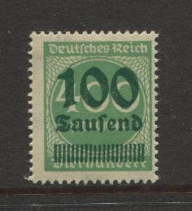 Germany -Scott 254- Definitive Issues -1923 - MLH - Single100th on a 400m Stamp