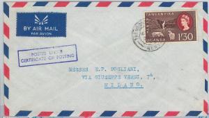 59504 -  British KUT  KENYA - POSTAL HISTORY: COVER to ITALY -  SHEEP  Watefalls