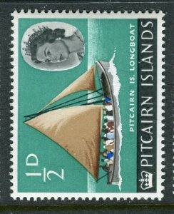 PITCAIRN ISLAND; 1964 early QEII issue fine Mint MNH value, 1/2d