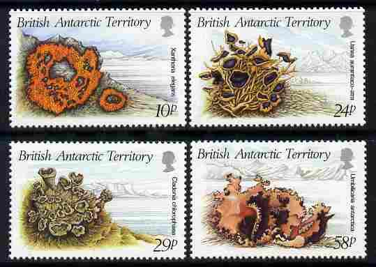 British Antarctic Territory 1989 Litchens perf set of 4 u...
