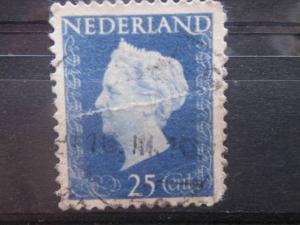 NETHERLANDS, 1947, used 25c, Queen Wilhelmina, Scott 294