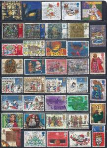 Great Britain Lot #825-2 (38) (U) various Christmas Issues