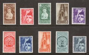Italy Sc 367-376 MLH. 1937 Child Welfare Exhibition 1;0