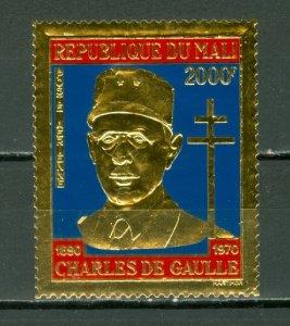 MALI 1971 DEGAULE GOLD FOIL STAMP #C114...MNH...$60.00