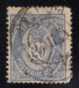 Norway Scott 44 Used Post Horn stamp