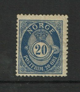 Norway SC# 53, Mint Hinged, Hinge Remnants, some gum creasing - S9375