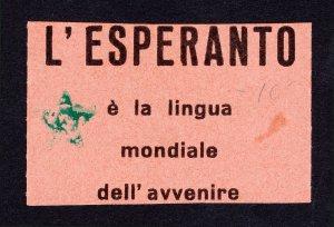 L'ESPERANTO È LA LINGUA MONDIALE DELL'AVVENIRE (ESPERANTO EVENT TICKET)