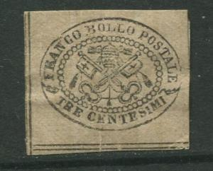 STAMP STATION PERTH Italy #13?  Roman States Mint Imperforate CV$?
