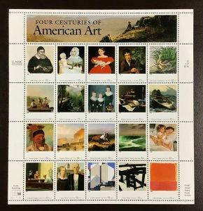 3236 Four Centuries of American Art  MNH 32 c  Sheet of 20   1998