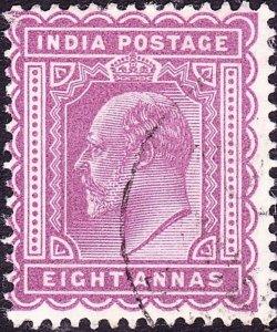 INDIA 1903KEDVII 8 AnnaPurple SG133Used
