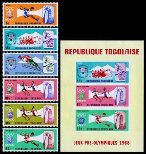 Togo Scott 624-627, C84-C85, C85a Souvenir Sheet (1967) Mint NH VF C