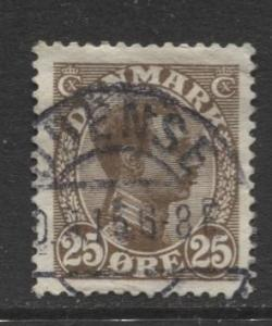 Denmark - Scott 106 - King Christian X Issue -1913 - Used - Single 25o Stamp