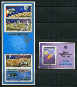 Cook Islands 4 Souvenir Sheets Space USA-USSR MNH Cv $13 5409