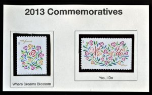 SCOTT 4764-65 WHERE DREAMS BLOSSOM - YES I DO  &1 FREE MNH DUMPSTER FIND STAMP