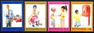Botswana. 2004. 793-96. Mail day people. MNH.