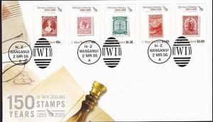 NEW ZEALAND 2005 150 Years of Stamps souvenir set FDC.......................8399