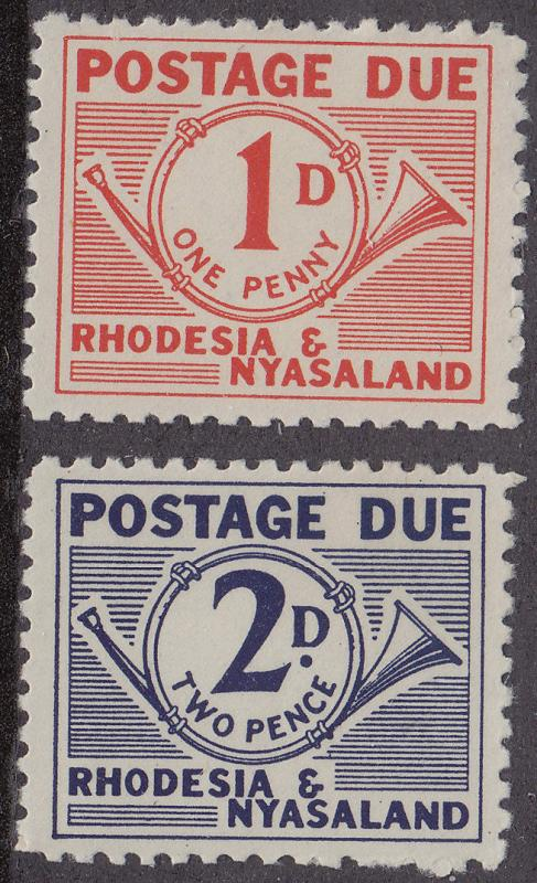 RHODESIA MNH Scott # J1-J2 Postage Due (2 Stamps)