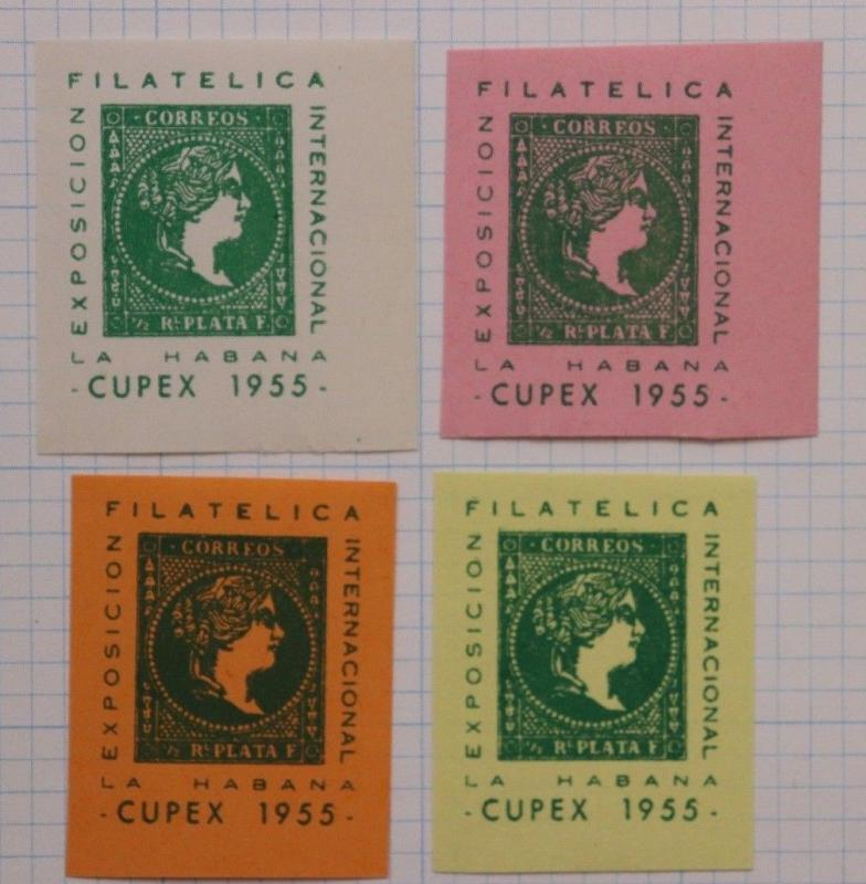 CUPEX Havana intl expo 1955 Philatelic society Stamp club show Poster ad  DM
