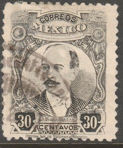MEXICO 625, 30¢ PERFORATED, USED. .F-VF  (1357)