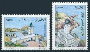 Algeria 1107-1108,MNH.Michel 1195-1196. Lighthouses 1997.Tenes,Caxine.