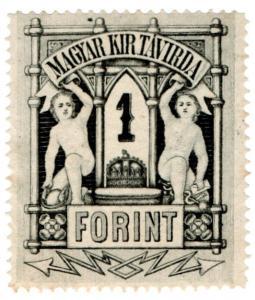 (I.B) Hungary Telegraphs : Magyar Kir Tavirda 1Ft (1874)