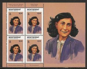 Montserrat 944 Anne Frank m/s MNH