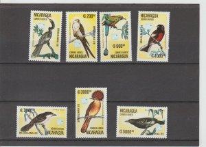 Nicaragua  Scott#  C1172-C1178  MNH  (1989 Birds)