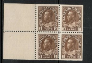 Canada #108a Mint Fine - Very Fine Never Hinged Booklet Pane
