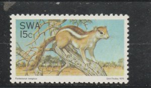 South West Africa  Scott#  393  MNH  (1976 Tree Squirrel)