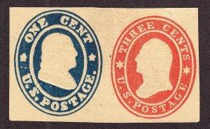 US U29 Envelope Cut Square Mint SCV $250