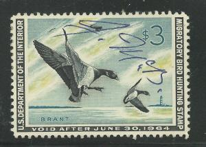 RW30 1963 Federal Duck Stamp (Bierly) Premium Used-Signed off Image-Ebay Low