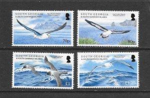 BIRDS - SOUTH GEORGIA #530-33   ALBATROSS   MNH
