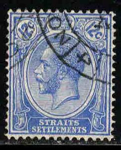 Straits Settlements # 192 ~ Used, HMR, PM ( pencil # on Rev )