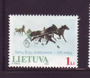 Lithuania Sc 787 2005 Sartai Horse Race stamp mint NH