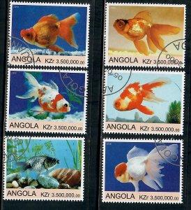 Angola Used Fish complete set CTO