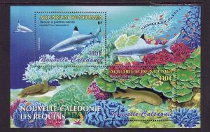 New Caledonia-Sc#964-unused NH sheet-Sharks-Marine Life-2005