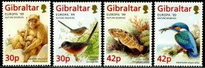 GIBRALTAR Sc#794-797 1999 Europa Wildlife Complete Set OG Mint Hinged
