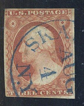 10 Used F-VF Blue Cancel Cat$210