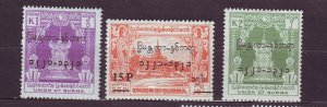 J23708 JLstamps 1959 burma mh set #163-5 ovpt,s
