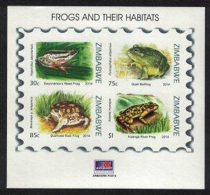 Zimbabwe Frogs MS SG#MS1386