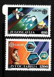 Yugoslavia-Sc#1892-3-unused NH Europa set-1988-