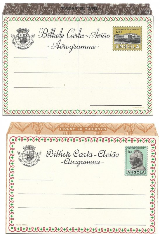 ANGOLA (Portugal) 8 Unused Air Letters (Aerogrammes) from 1950s