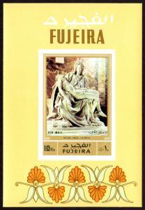 Fujeira Mi Block 91B (#851) mnh - 1972 Sculptures - Michelangelo Pieta - imperf