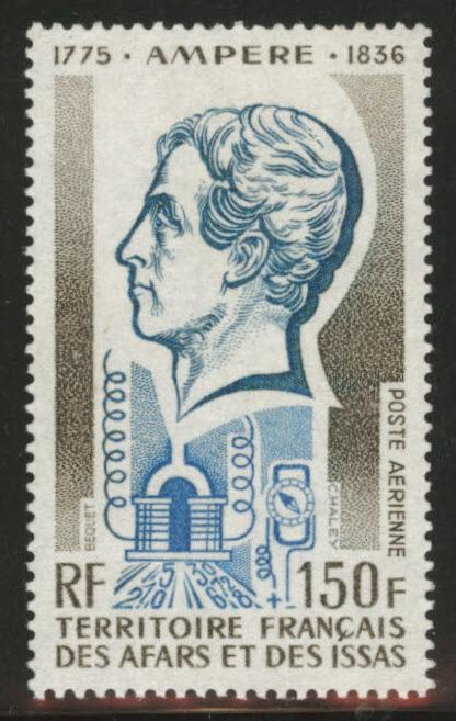 Afars and Issas Scott C92 MNH** Ampere stamp