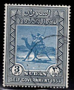 SUDAN Scott 116 Used 1954 Camel postman stamp